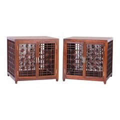 Pair of Midcentury Asian Inspired End Tables