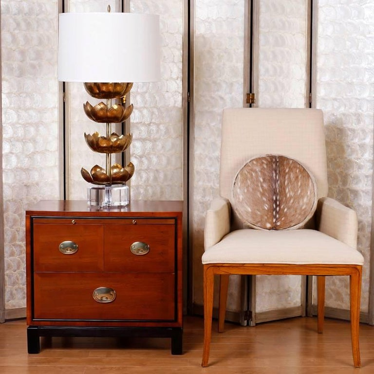 Pair of Midcentury Asian Modern Nightstands For Sale 3