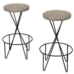 Pair of Mid Century Barstools by Paul Tuttle