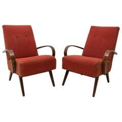 Pair of Midcentury Bentwood Armchairs by Jaroslav Šmídek, 1960s
