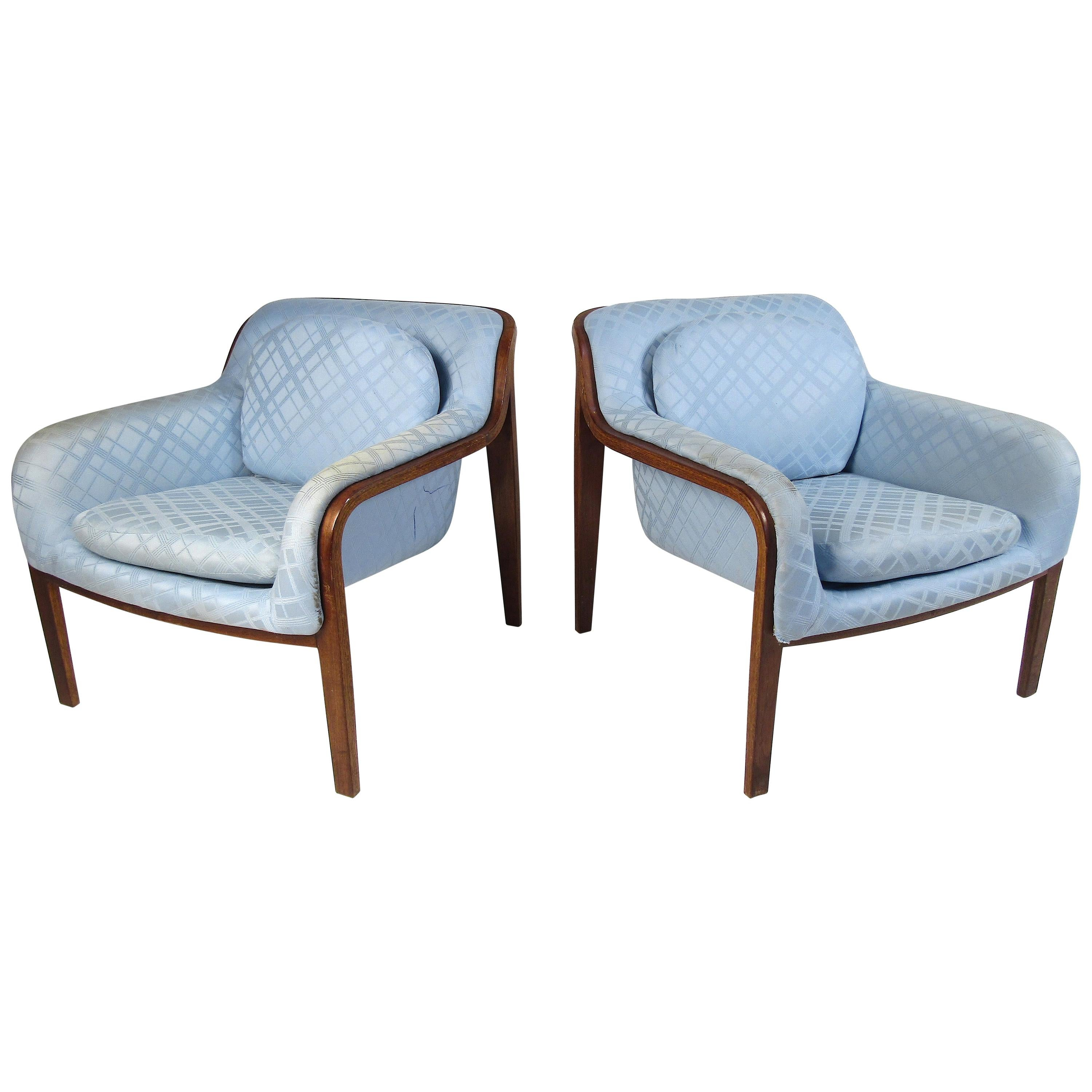 Pair of Midcentury Bentwood Lounge Chairs by Bill Stephens for Knoll