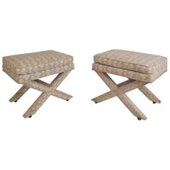 Pair of Midcentury Billy Baldwin Style Ottomans