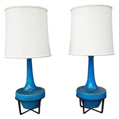 Pair of Midcentury Bitossi Table Lamps