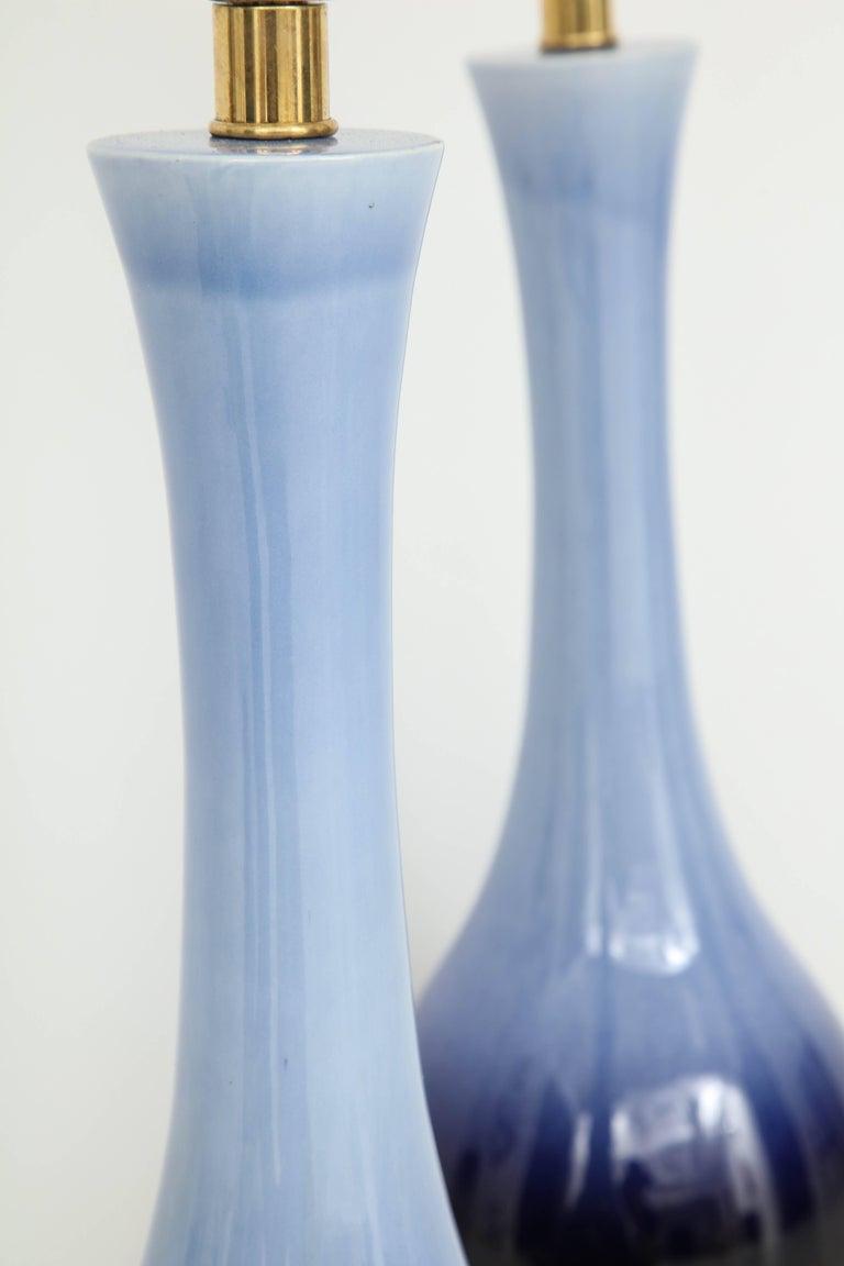 American Pair of Midcentury Blue