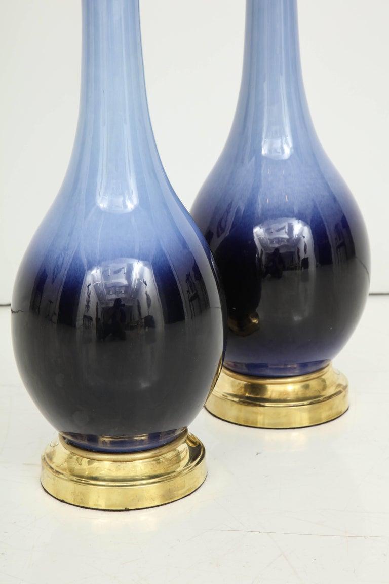 Pair of Midcentury Blue