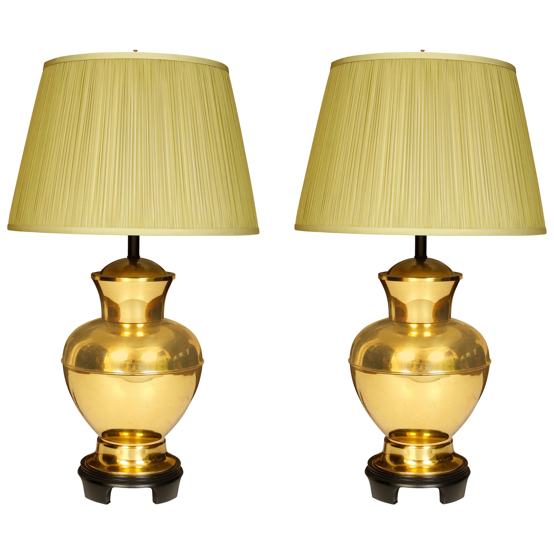 Pair of Midcentury Brass Lamps