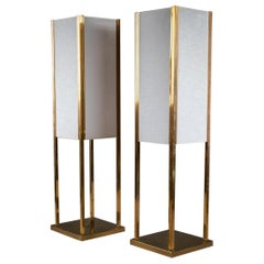 Pair of Midcentury Brass Table Lamps