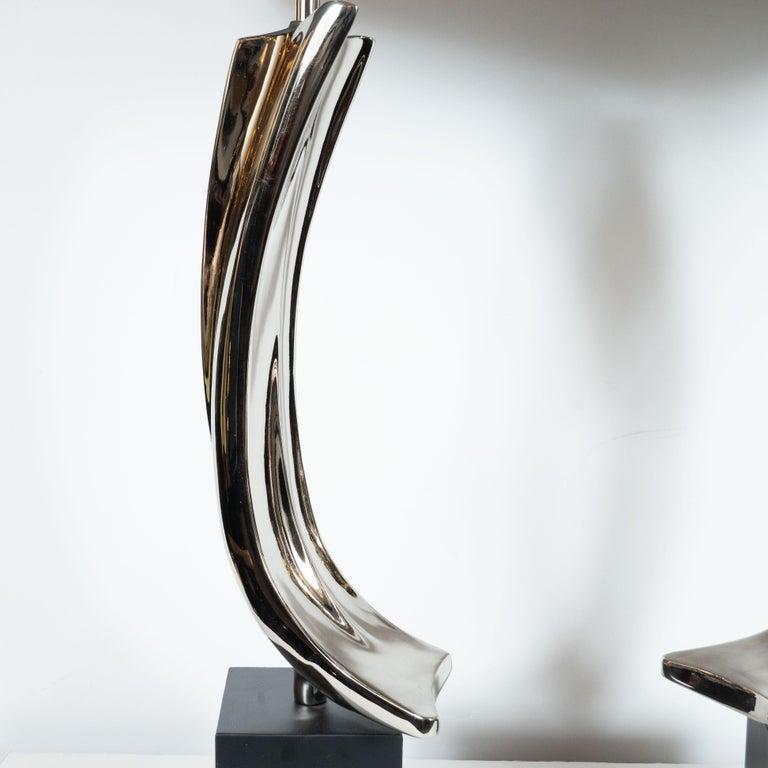 American Pair of Midcentury Brutalist Table Lamps for Laurel Lamp Co.