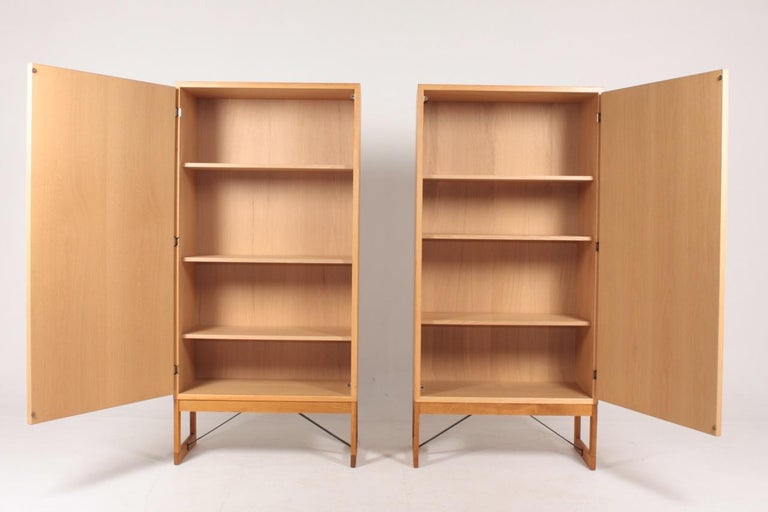 Swedish Pair of Midcentury Cabinets in Oak Designed by Børge Mogensen, 1960s For Sale