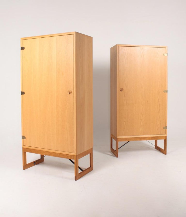 Pair of Midcentury Cabinets in Oak Designed by Børge Mogensen, 1960s For Sale 2