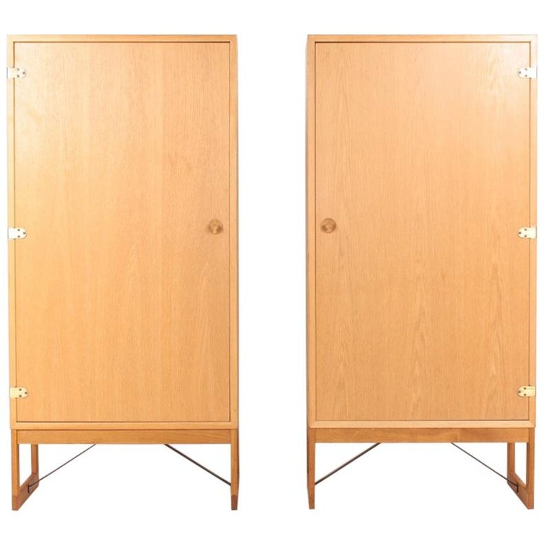 Pair of Midcentury Cabinets in Oak Designed by Børge Mogensen, 1960s For Sale