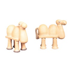 Pair of Midcentury Camels Figurines by Lisa Larson, 1960s