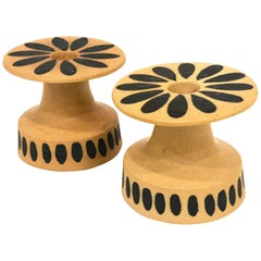 Pair of Midcentury Ceramic Candlestick Holders by Bennington Potters