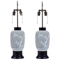 Pair of Midcentury Ceramic Table Lamps