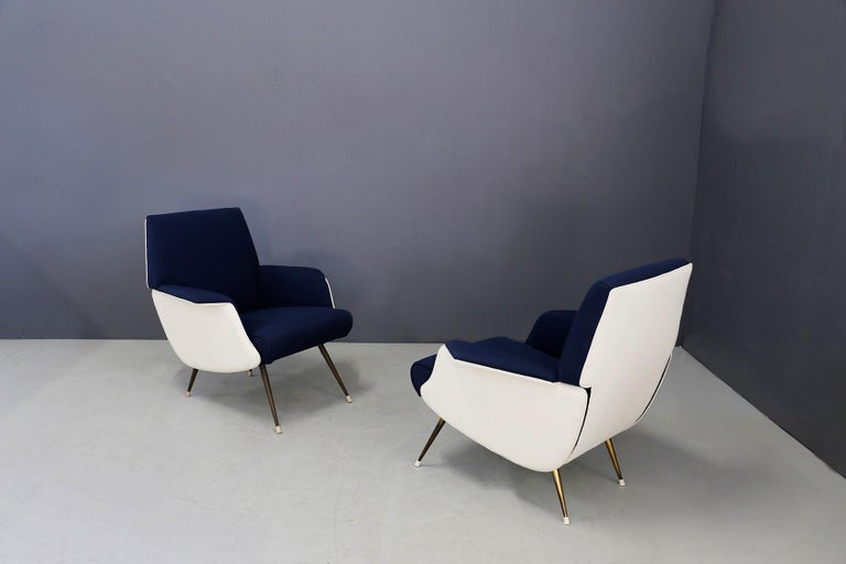 Pair of Midcentury Chair by Giuseppe Rossi for Albizzate Varese, Published 1956 For Sale 4