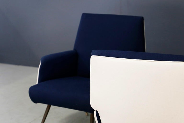 Pair of Midcentury Chair by Giuseppe Rossi for Albizzate Varese, Published 1956 For Sale 5