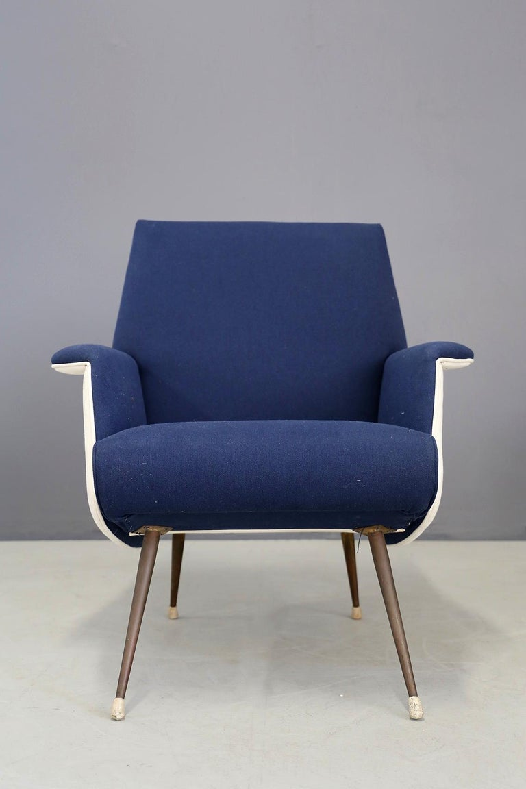 Pair of Midcentury Chair by Giuseppe Rossi for Albizzate Varese, Published 1956 For Sale 6
