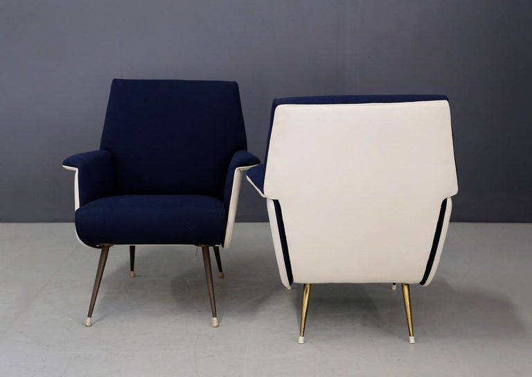 Pair of Midcentury Chair by Giuseppe Rossi for Albizzate Varese, Published 1956 For Sale 7