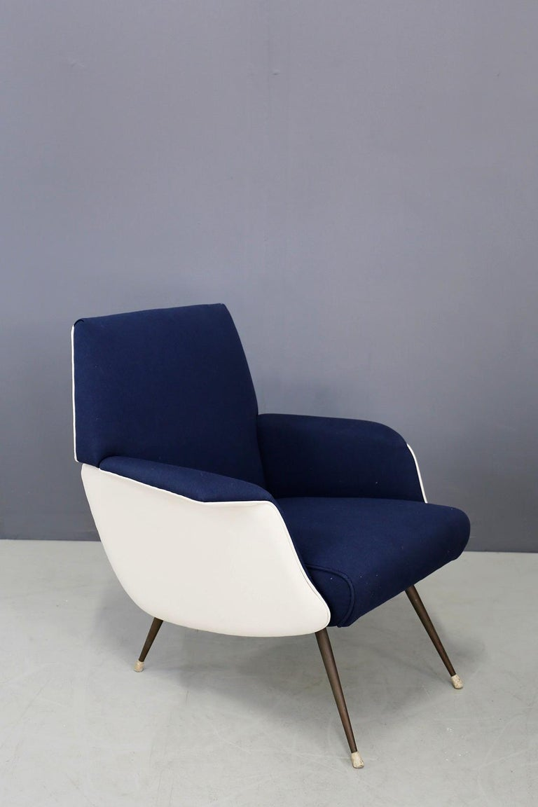 Mid-Century Modern Pair of Midcentury Chair by Giuseppe Rossi for Albizzate Varese, Published 1956 For Sale