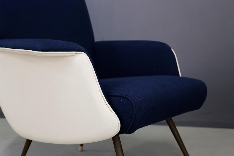 Italian Pair of Midcentury Chair by Giuseppe Rossi for Albizzate Varese, Published 1956 For Sale