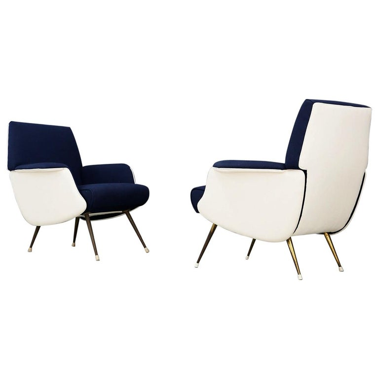 Pair of Midcentury Chair by Giuseppe Rossi for Albizzate Varese, Published 1956 For Sale