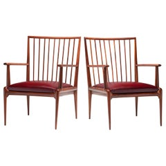 Pair of Midcentury Chairs by Branco & Preto 'Attributed', Brazil, 1950s