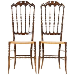 Pair of Midcentury Chairs by Chiavari, 1950s