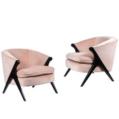Pair of Midcentury Chairs in the Manner of Karpen