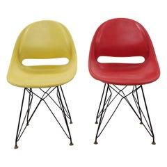 Pair of Midcentury Chairs, Vertex, by Miroslav Navratil, 1960s