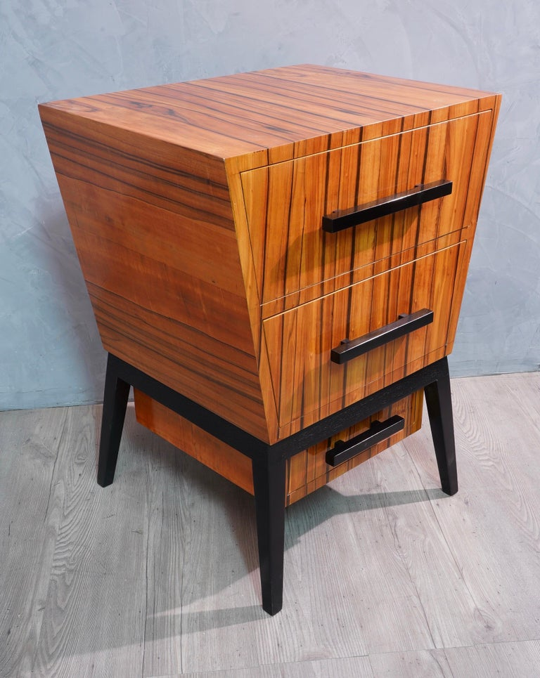 Pair of Midcentury Cherrywood Large Nightstands, 1950 For Sale 4