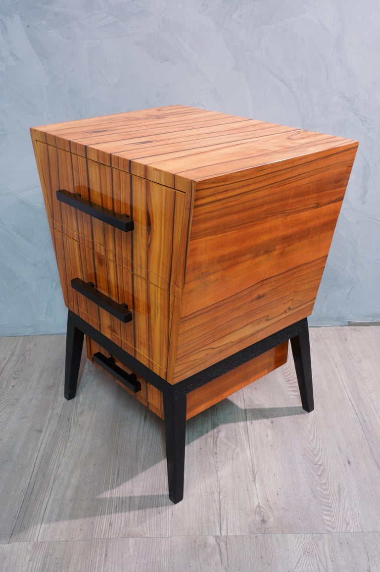 Pair of Midcentury Cherrywood Large Nightstands, 1950 For Sale 5
