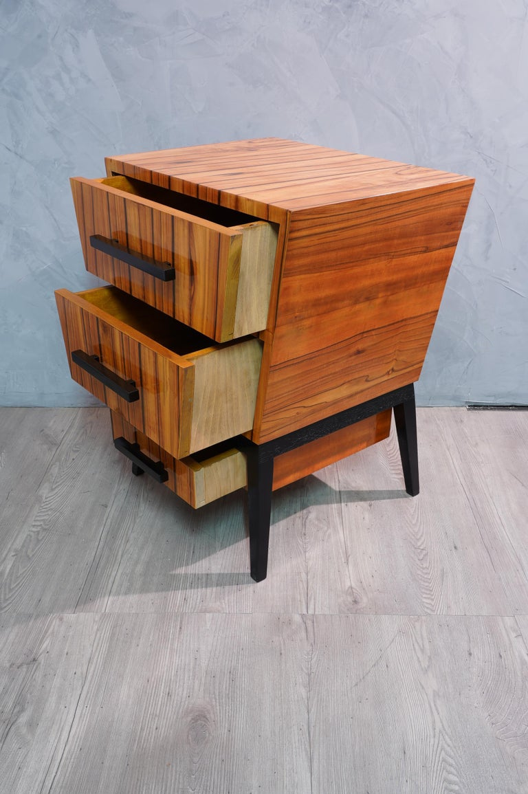 Pair of Midcentury Cherrywood Large Nightstands, 1950 For Sale 6