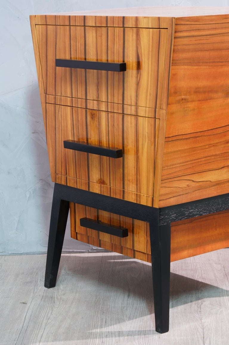 Pair of Midcentury Cherrywood Large Nightstands, 1950 For Sale 1