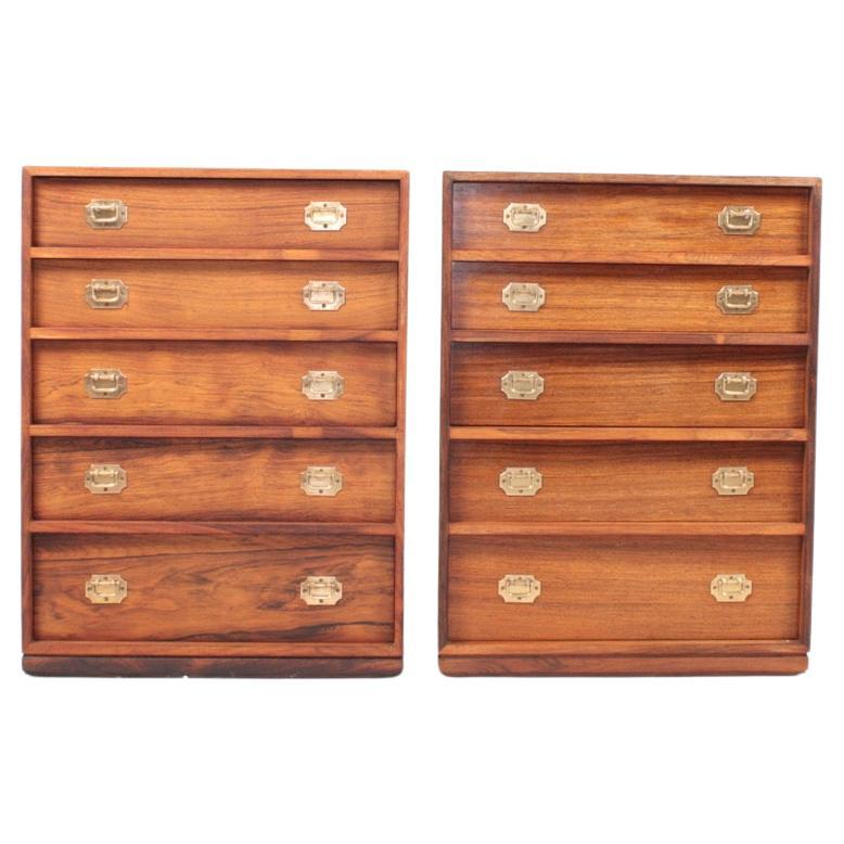 Pair of Midcentury Chest of Drawers in Rosewood by Henning Korch, 1950s