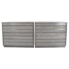 Pair of Midcentury Chests Stained in Grey
