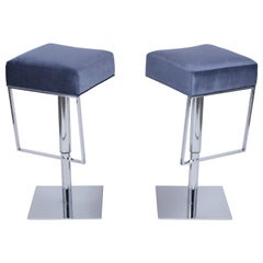 Pair of Mid Century Chrome Bar Stools