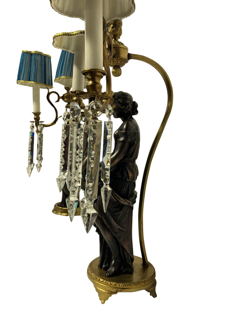 Pair of Midcentury Classical Figural Lamps In Good Condition In London, GB