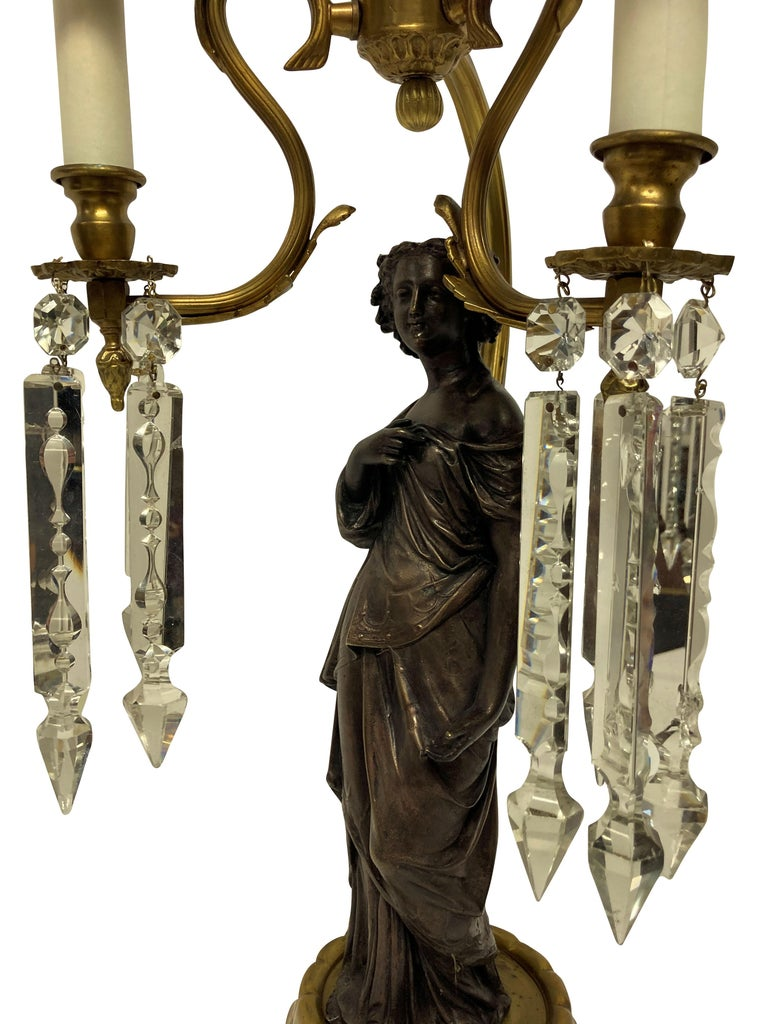 Pair of Midcentury Classical Figural Lamps 2