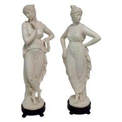 Pair of Midcentury Classical Women Sculptures