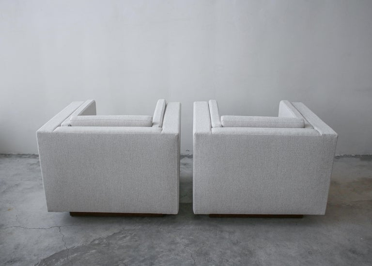 20th Century Pair of Midcentury Cube Lounge Chairs For Sale