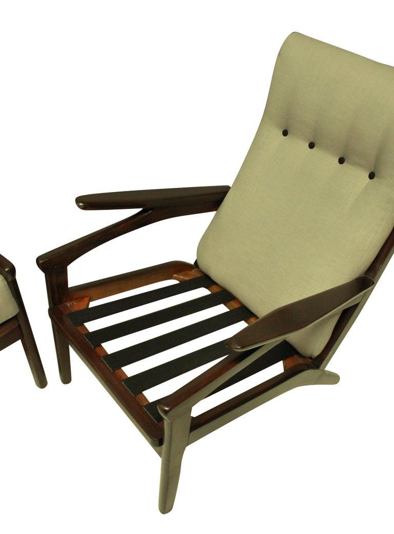 Teak Pair of Midcentury Danish Armchairs