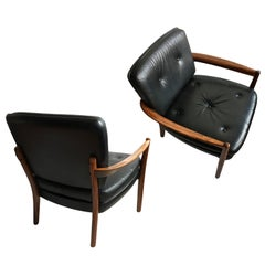 Pair of Nordic Midcentury Rosewood Lounge Chairs
