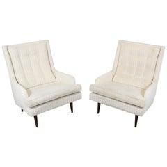 Pair of Midcentury Danish Modern Paul McCobb Style Lounge Chairs