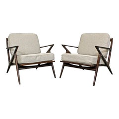 Pair of Midcentury Danish Modern Poul Jensen Selig Z Lounge Chairs