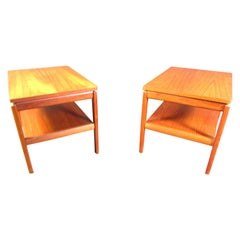 Pair of Midcentury Danish Teak Nightstands