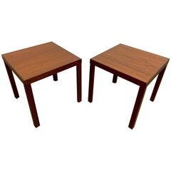 Pair of Midcentury Danish Teak Side Tables by Hans Olsen