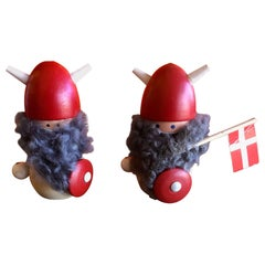 Pair of Midcentury Danish Vikings Figures