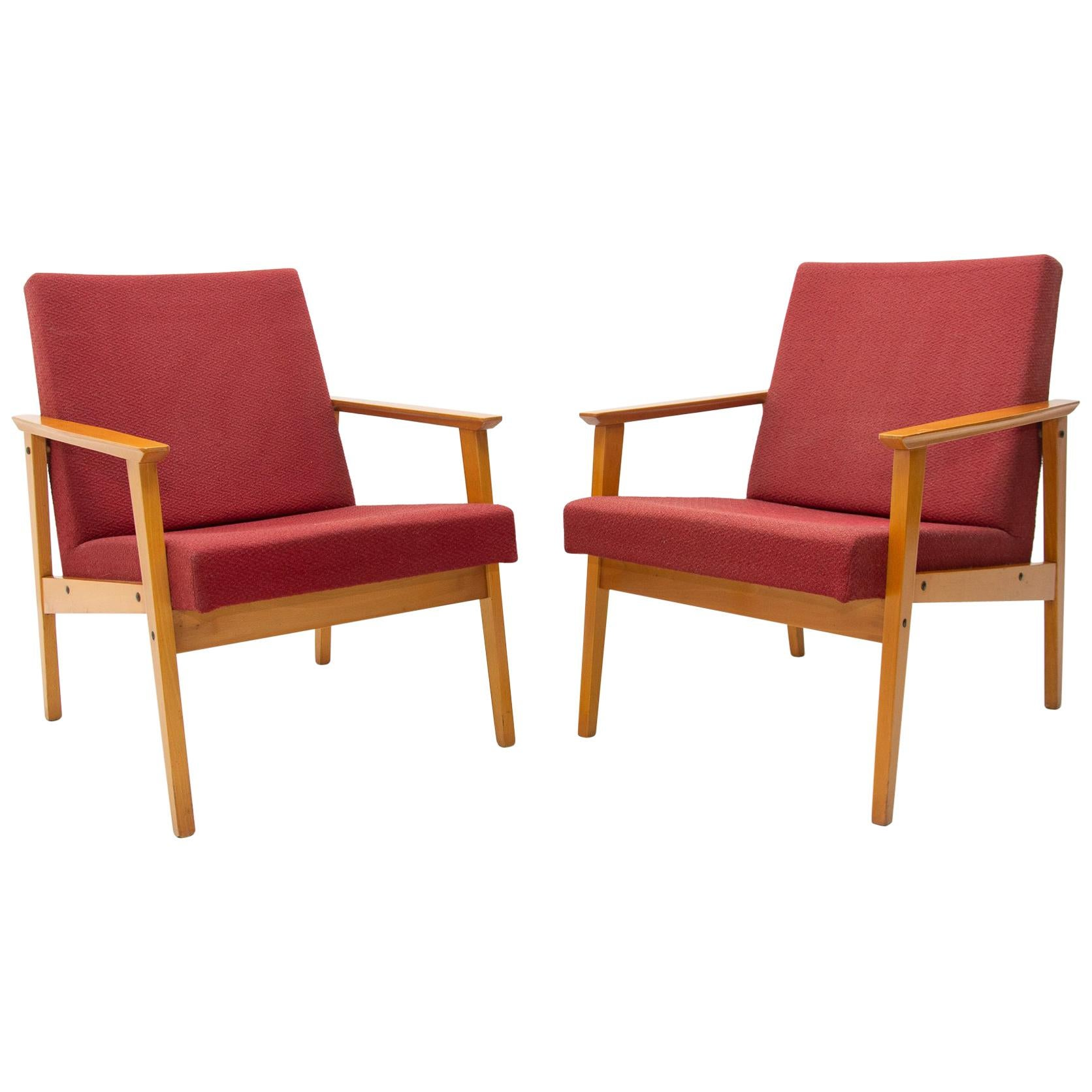 Pair of Midcentury Danish style Armchairs for TON, 1960s