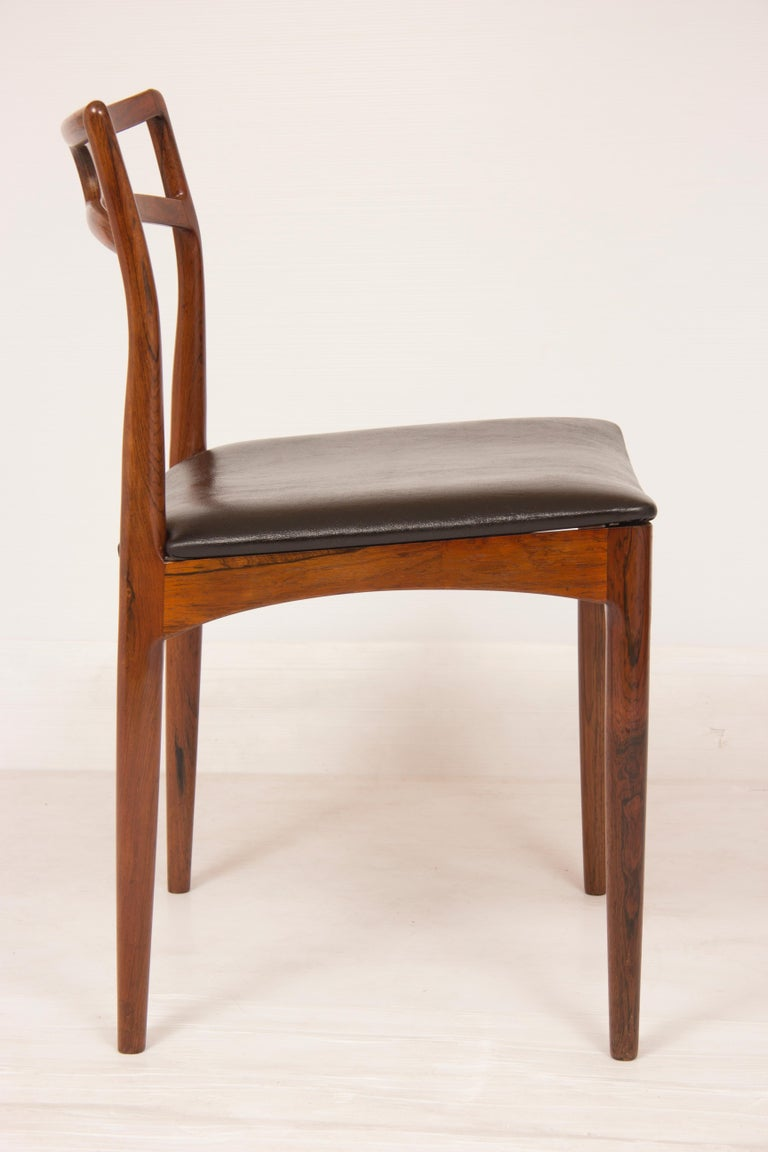 Midcentury rosewood chairs.