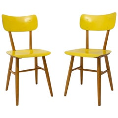 Pair of Midcentury Dining Chairs TON, 1960s, Czechoslovakia